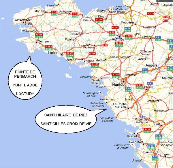 Info Cote Atlantique France Voyages Cartes
