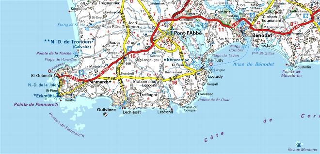 Carte Bretagne Vendee.Bretagne Sud La Cote Atlantique Bretagne Vendee Belle